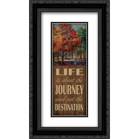 Life Journey 2x Matted 14x24 Black Ornate Framed Art Print by Williams, Todd