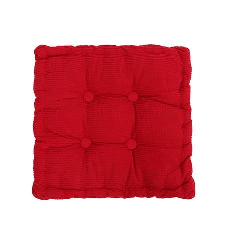 Bestller 18''x18'' Square Corduroy Chair Pad Cushion Thicker Patio Car Office Seat Sofa Tatami Mat ()