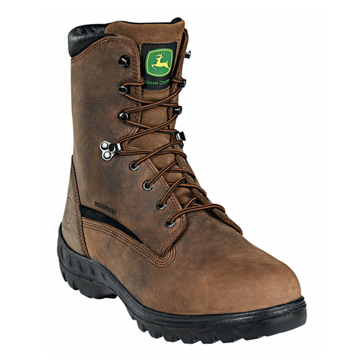 John Deere Men's BrownStone Waterproof Steel Toe Work Boots JD8601 by John Deere