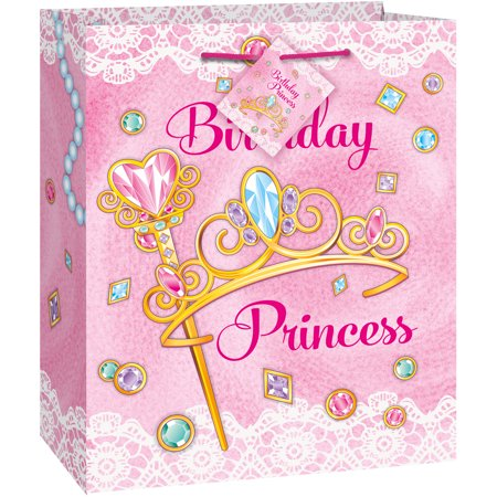 Jeweled Pink Princess Gift Bag - Big Gift Bags