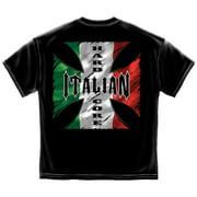 Hardcore Italian Patriotic T-Shirt by , Black