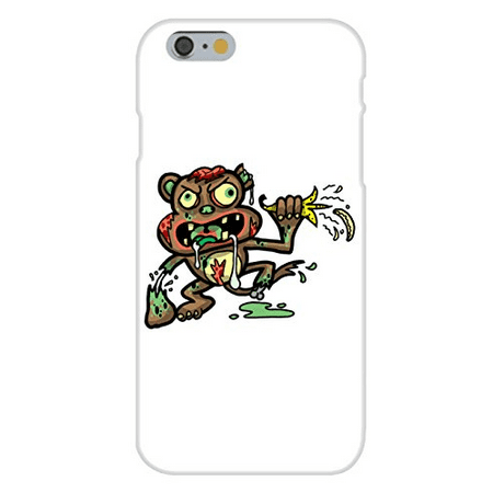 Funny Zombie Anime (Apple iPhone 6 Custom Case White Plastic Snap On -