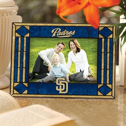 San Diego Padres Art Glass Horizontal Picture Frame - No Size