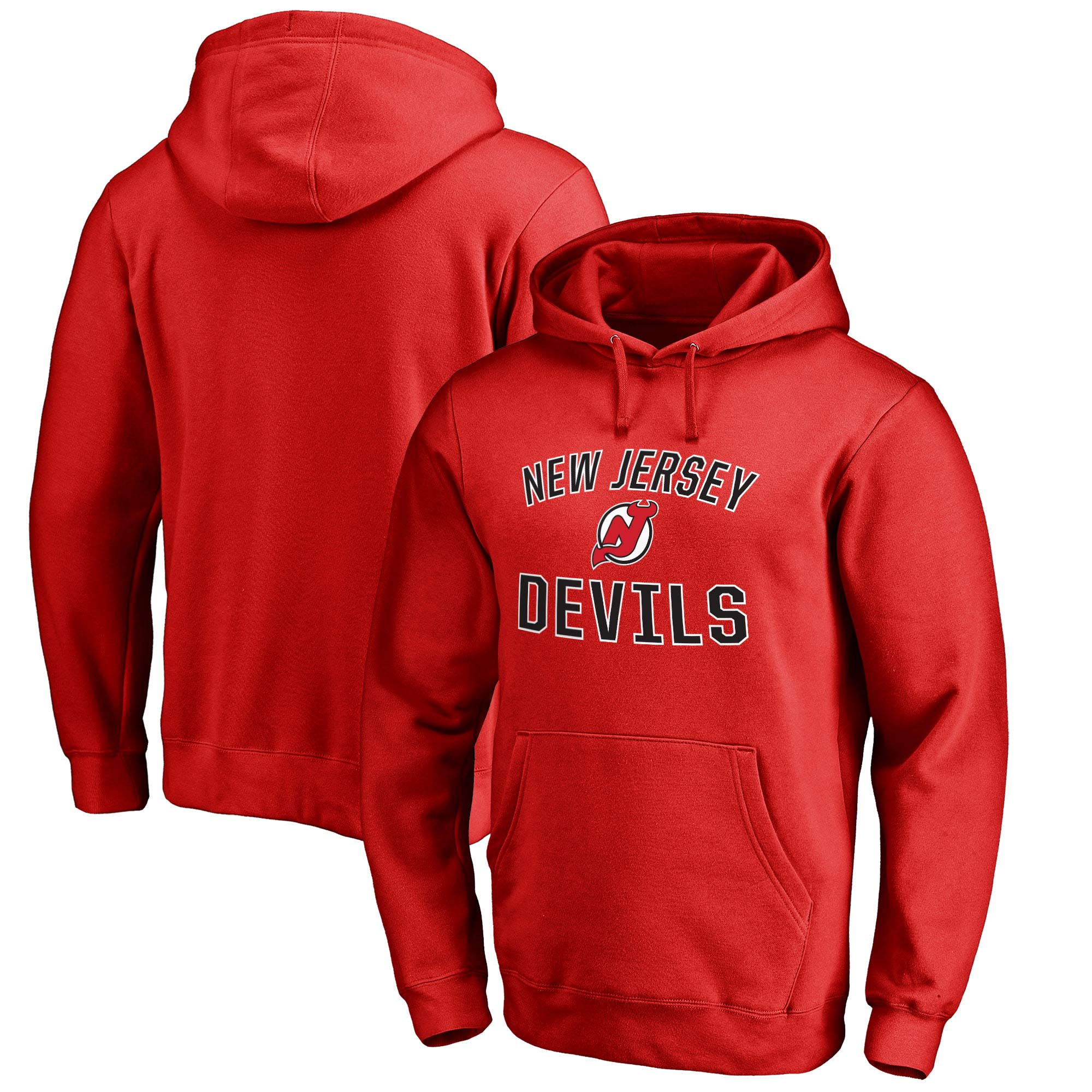 New Jersey Devils Victory Arch Fleece Pullover Hoodie - Red