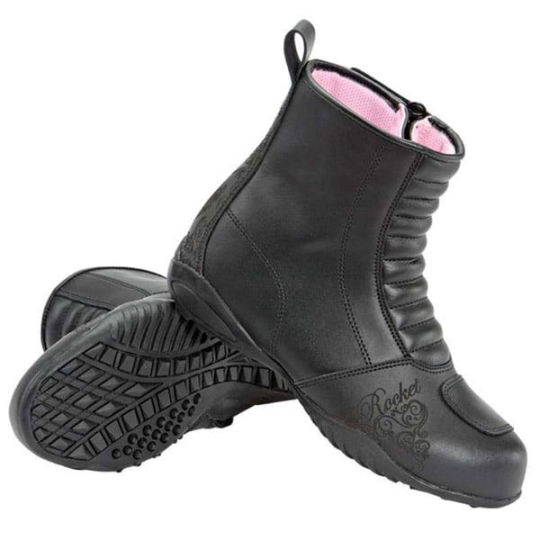 Joe Rocket Trixie Womens Black Leather Motorcycle Boots