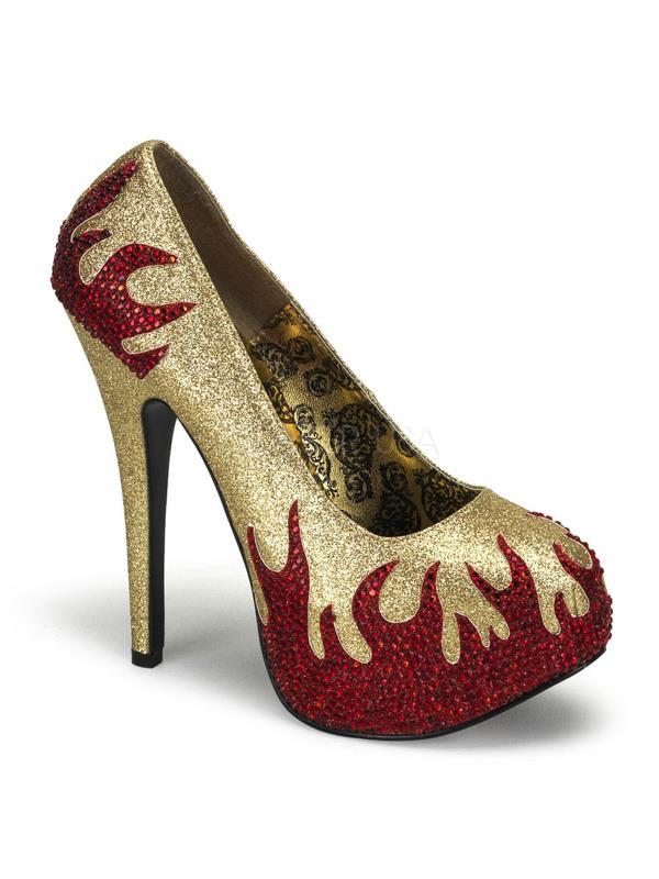 Bordello Gltr-Red Shoes Teeze Gold Mini Gltr-Red Bordello Rstn Size: 8 79f5f7