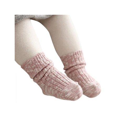 Topumt Toddler Kids Anti-slip Socks Baby Infant Soft Socks Boys Girls Winter Knitting