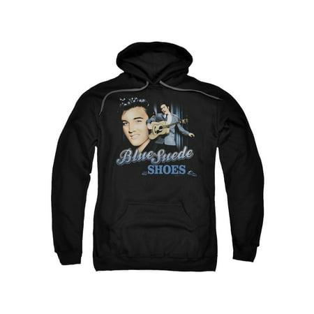 Elvis Presley The King Rock Blue Suede Shoes Adult Pull-Over - Elvis Hoodie