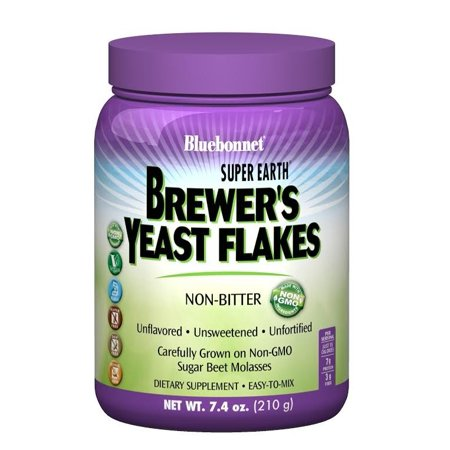 Bluebonnet Super Earth Brewer's Yeast Flakes, 7.4 Oz
