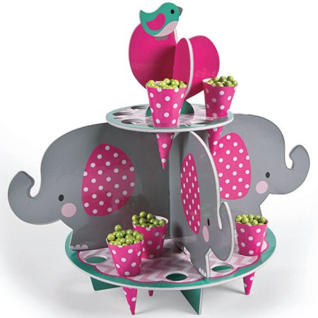 Cone Stand - Pink Elephant Treat Stand With Cones