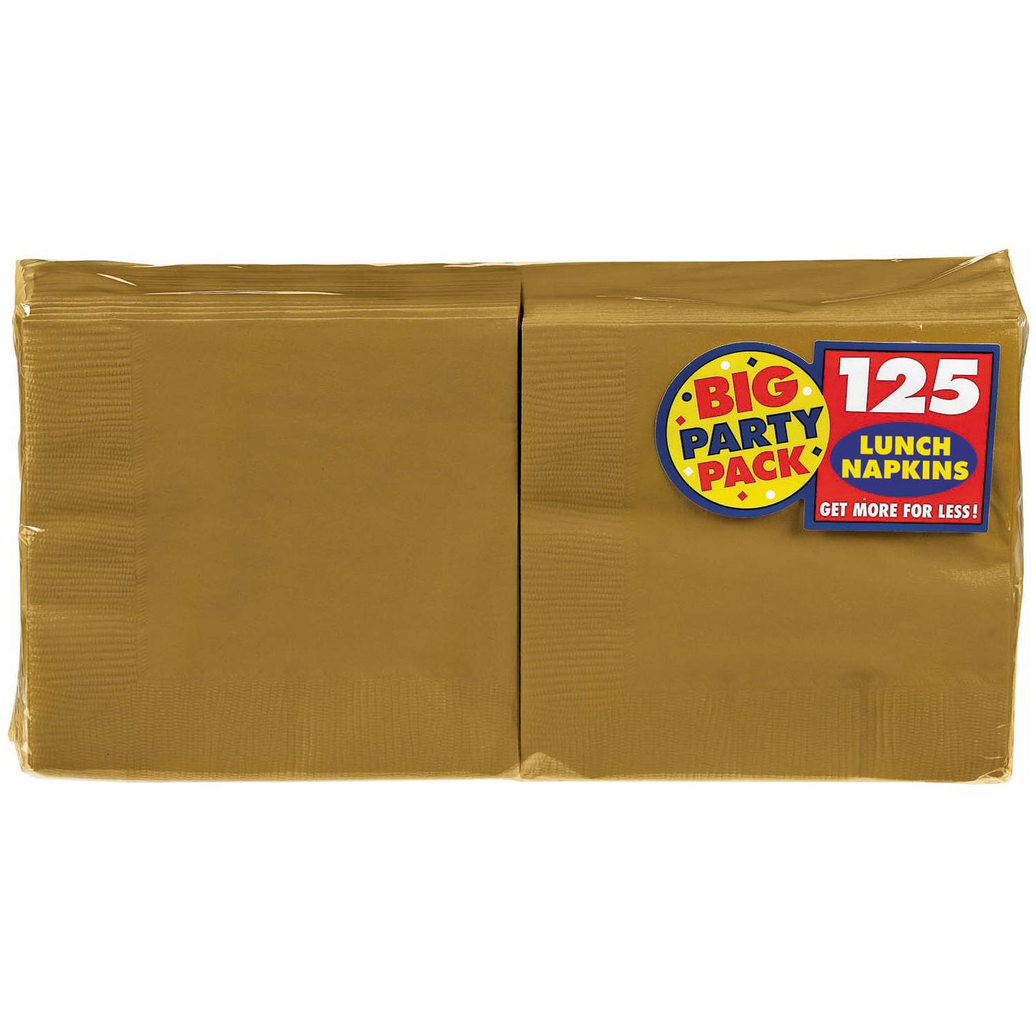 Gold Big Party Pack - Lunch Napkins (125)