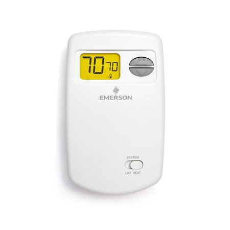 Emerson 1E78-140 Non-Programmable Heat Only Thermostat for Single-Stage Systems, Residential single stage, multi-stage and heat pump applications. By Emerson Thermostats
