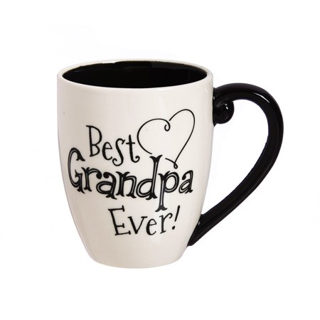 Cypress Home Best Grandpa Ever Ceramic Coffee Mug, 18 (Best Gifts For New Grandpa)