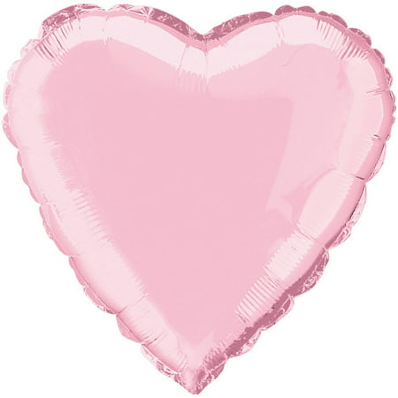 Foil Balloon, Heart, 18 in, Pastel Pink, 1ct (Pastel Balloons)