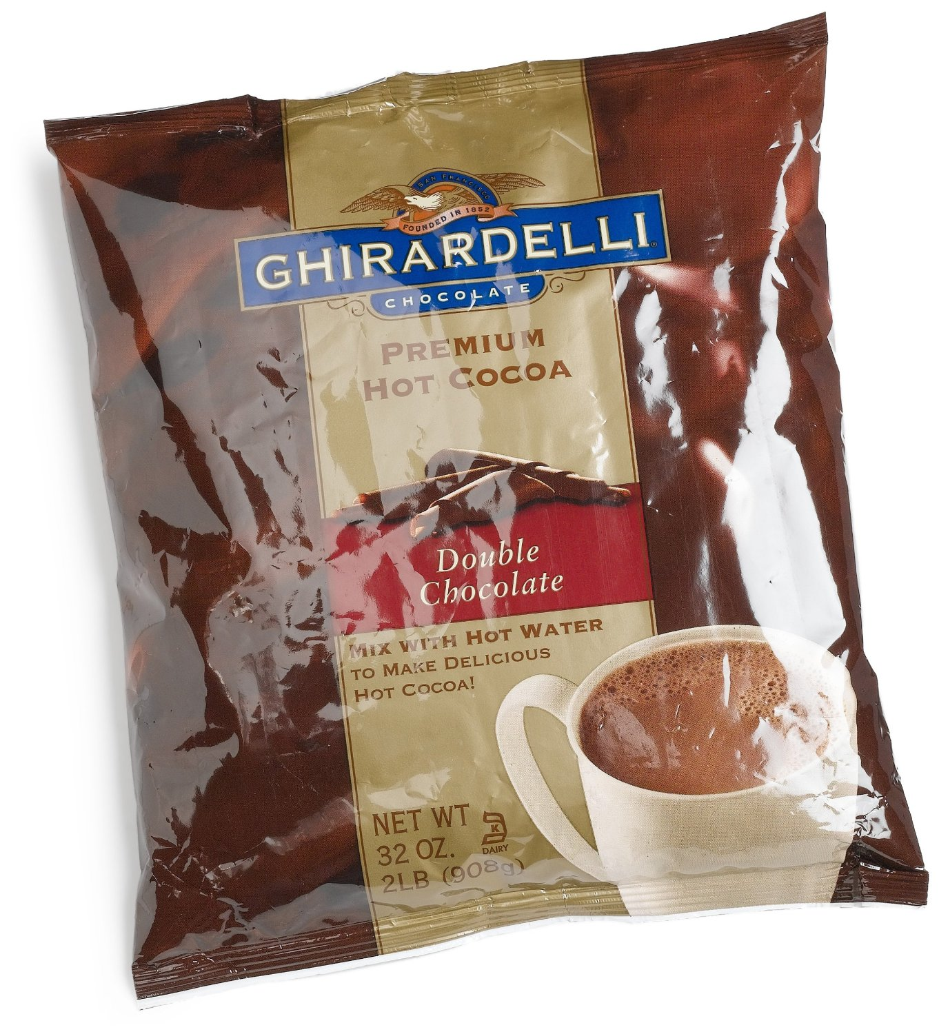 Ghirardelli Chocolate Premium Hot Cocoa Mix Double Chocolate, 32 Ounce by Ghirardelli