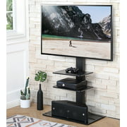 FITUEYES Universal Floor Swivel TV Base TV Stand with Mount for 32-65 Inch Samsung TCL Apple Vizio TVs