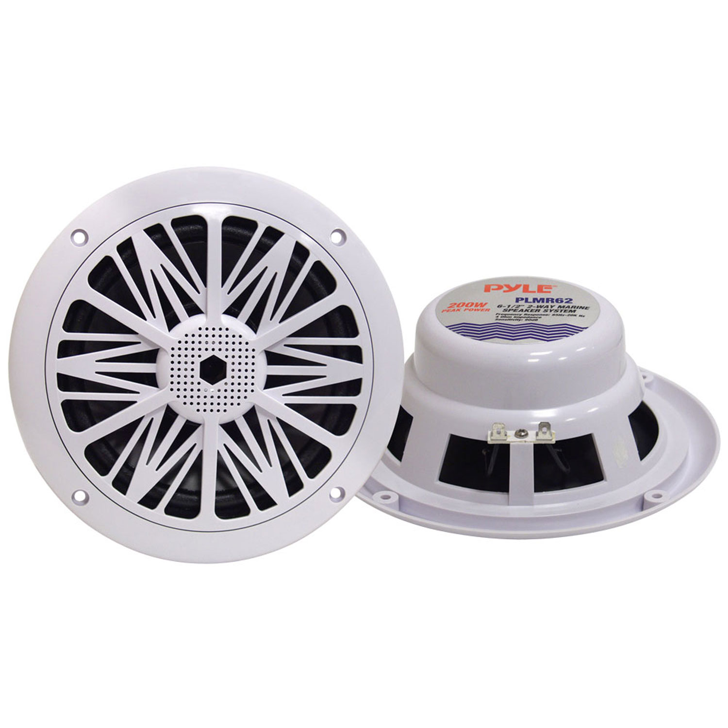 "Pyle 200 Watts 6.5"" 2 Way White Marine Speakers by Pyle"