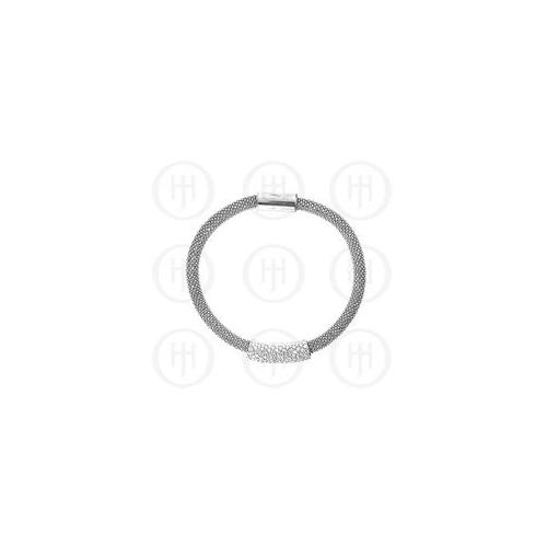 Doma Jewellery MAS07463 Sterling Silver -Magnetic Tri-Colour CZ Bracelet -MB-1007-S Sterling Silver -Rh