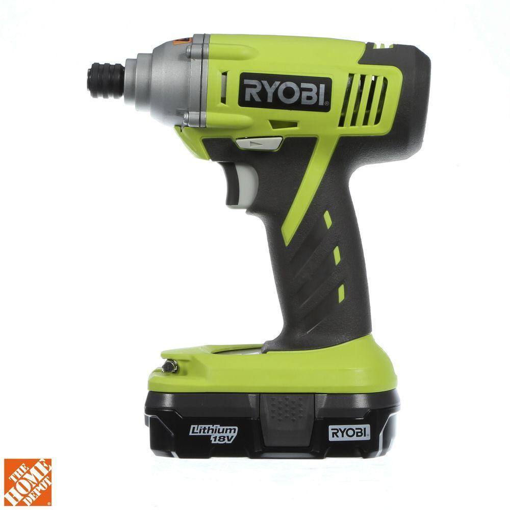 ryobi one+ 18-volt lithium ion cordless impact drill driver kit