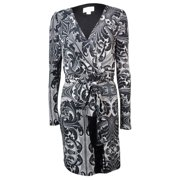 Jessica Simpson Women's Surplice V-neck Long Sleeve Dress
