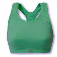 Zensah Seamless Running Sport Bra-Medium/Large Green