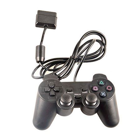 PKPOWER black game controller for sony playstation 2 ps2