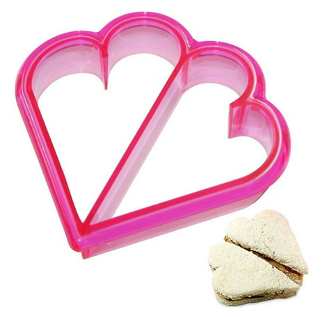 1 Sandwich Crust Cutter Heart Shaped Cookie Bread Crust Remover Mold Biscuit - Cut Glass Biscuit