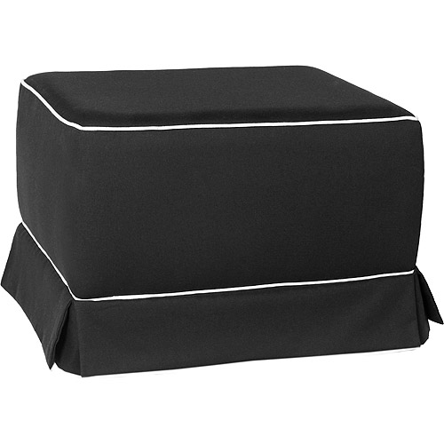 Enchanted - Gliding Ottoman With Skirt, Black