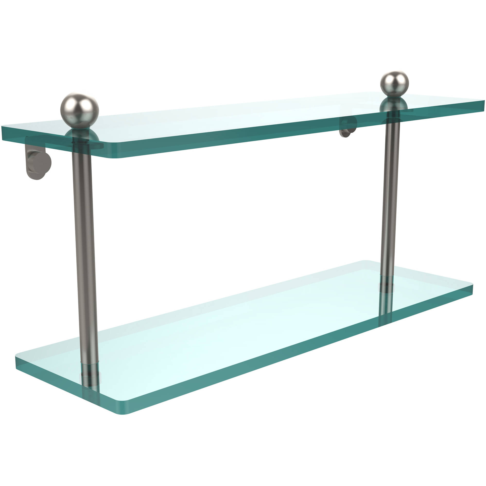 "16"" 2-Tiered Glass Shelf (Build to Order)"