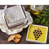 "artisano designs ""vineyard select olive oil and balsamic vinegar dipping plate"