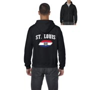 St. Louis Missouri Mens Hoodies Zip Up Sweater