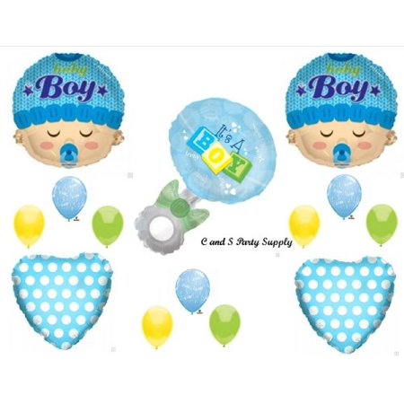 IT'S A BOY RATTLE BABY SHOWER Balloons Decorations Supplies](Baby Shower Supplies For Boys)