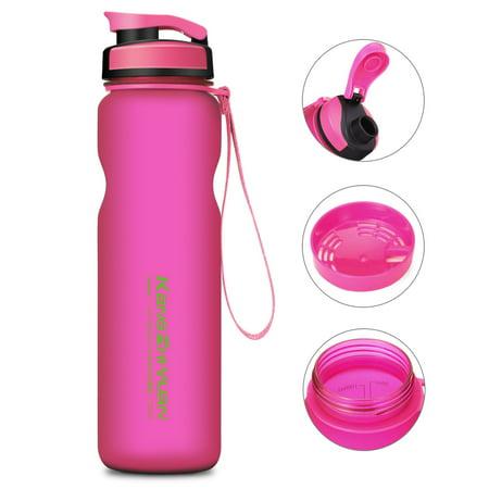 CAMTOA Water Drink Bottle 36oz Water Bottle – BPA Free – Best Sports Bottle Water Bottle Leak Proof Plastic Water Bottle, Kids Drinks bottle, Yoga Bike Running Camping Office