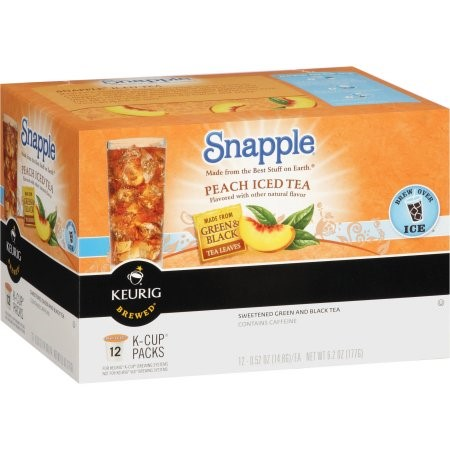 Snapple Single Serve Tea for Keurig, Peach Iced Tea, 12 Ct