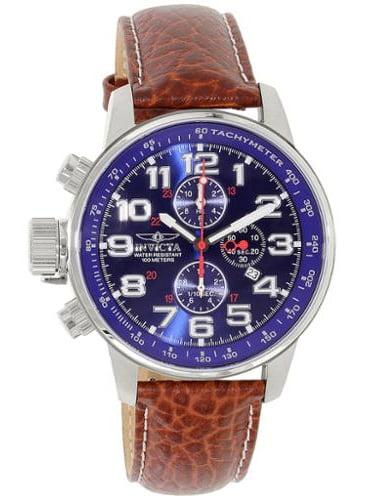 Men's 3328 I-Force Quartz 3 Hand Blue Dial Watch