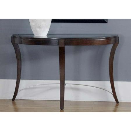 Avalon Console - Liberty Furniture Avalon Glass Top Console Table in Dark Truffle