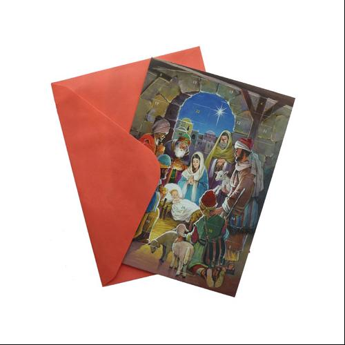 Vermont Christmas Company Savior's Light Greeting Card Advent Calendar