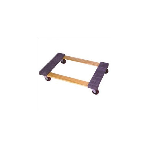 Wesco Manufacturing Open Deck Wood Dolly with 4'' Casters and Carpet Ends