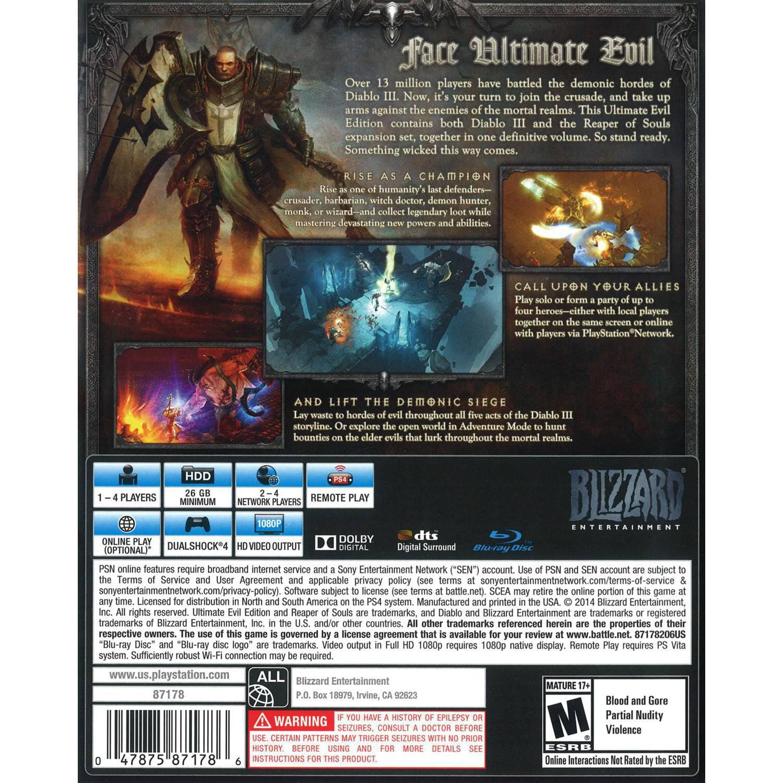 Blizzard Diablo III Ultimate Evil (PS4) - Pre-Owned