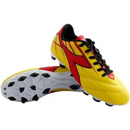 Diadora Men's Forte MD LPU Athletic Soccer Cleats Yellow Polyurethane 6 M (Md Forte)