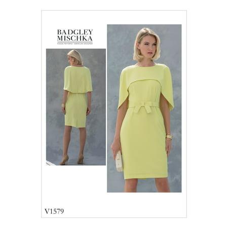 Vogue Pattern MISSES'/MISSES' PETITE DRESS-6-8-10-12-14