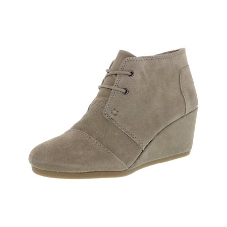 1e2eca173fb Toms - Toms Women s Desert Wedge Boot Taupe Suede Ankle-High - 7.5M -  Walmart.com