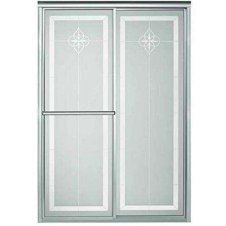 Sterling 5975-48N-G06 Deluxe 43.875u0022-48.875u0022W x 70u0022H Sliding Shower Door, Available in Various Colors
