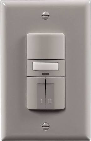 Cooper Wiring Devices Eaton OSD10N-GY Occupancy Sensor DT Single Pole 3-Way 120//277V N GY