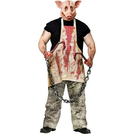 Butcher Pig Adult Halloween Costume - One - Butcher Halloween Costume