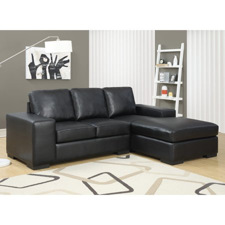 Monarch Specialties Sheffield Leather Sofa Lounger - Walmart.com