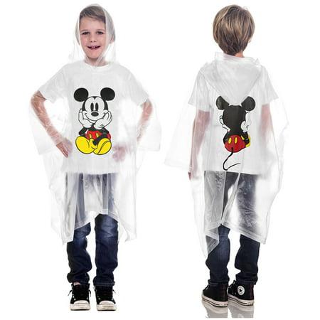 Boys Mickey Mouse Rain Poncho Waterproof Outerwear](Rain Panchos)