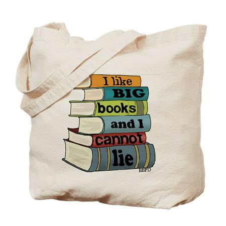 CafePress - I Like Big Books - Natural Canvas Tote Bag, Cloth Shopping - Book Tote