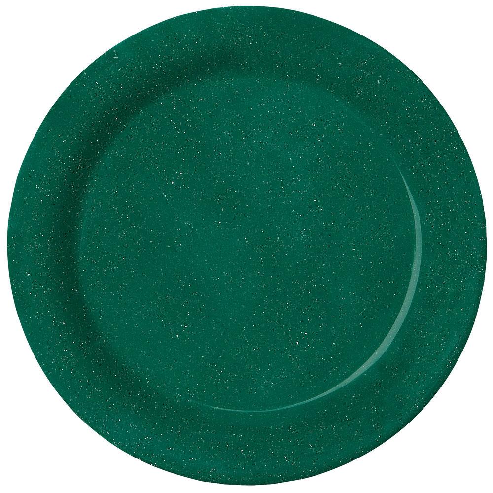 Kentucky Green 10 inch Round Plate Melamine/Case of 12