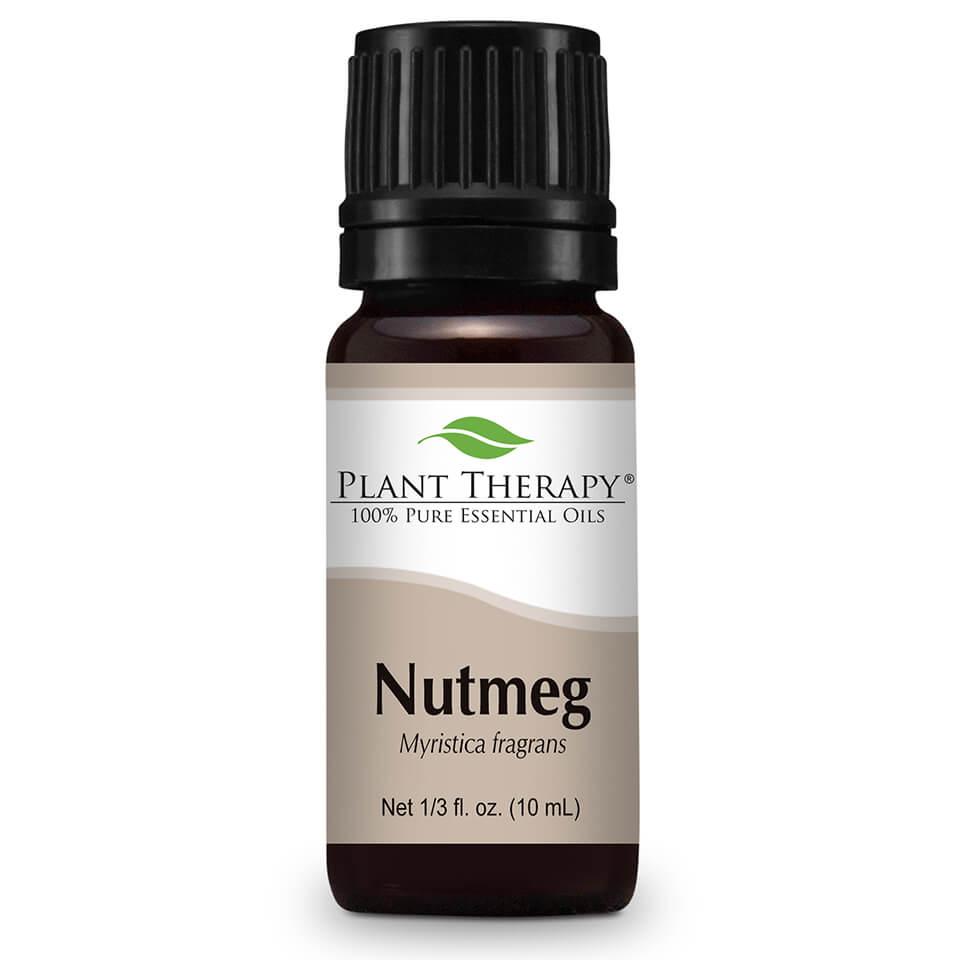 Plant Therapy Nutmeg Essential Oil 10 mL (1/3 fl. oz.) 100% Pure, Undiluted, Therapeutic Grade